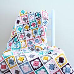 May Crochet along: Crochet Scrapghan free pattern and video tutorial on B. Hooked Crochet