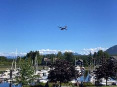 AWESOME! The Martin MARS - Coulson Flying Tankers flew over #Ucluelet today on its West Coast farewell flight tour. What an amazing experience. Thanks so much for the years of service fighting forest fires read all about the historic plane and fabled history http://ift.tt/29Jn3Lq #lastofitskind
