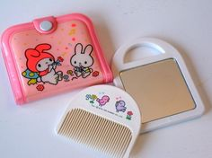 Vintage Sanrio My Melody Comb and Mirror Set Circa 1981 by ktrever