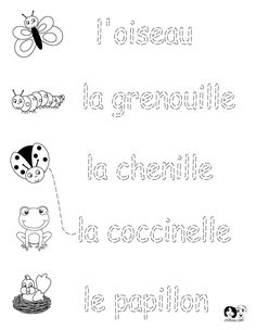 French Worksheets for Kids ~ Spring Printout French ~ French Activities for… Learning French For Kids, French Language Learning, Ways Of Learning, Teaching French, Foreign Language, Study French, French Kids, Spanish Worksheets, Worksheets For Kids