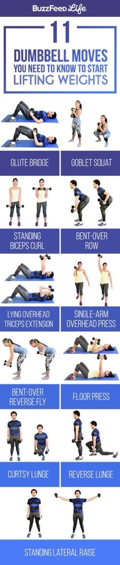 11 Dumbbell Moves You Need To Know To Start Lifting Weights!