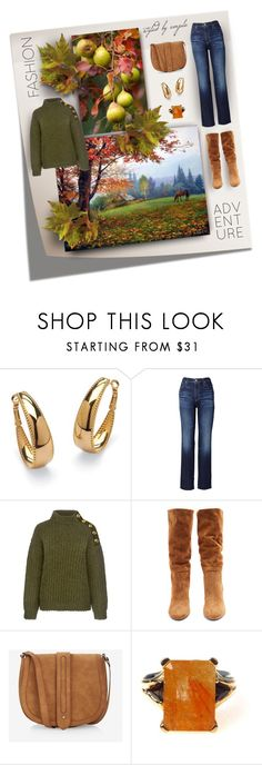 """Fashion For Fall"" by emjule ❤ liked on Polyvore featuring Palm Beach Jewelry, AG Adriano Goldschmied, Boutique Moschino, Samuele Failli and Express"