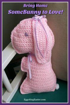 Handmade Crocheted Bunny to Love - Eggciting Easter