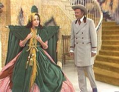Probably the most remembered costume ever was the Bob Mackie designed costume for Scarlett O'Hara in a sketch on The Carol Burnett show