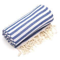 Authentic Pestemal Fouta True Blue Turkish Cotton Bath/ Beach Towel | Overstock.com Shopping - Top Rated Bath Towels