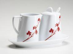 Dogwood Blossom 5 Piece Sugar and Creamer Set