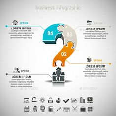 Business Infographic — Photoshop PSD #infographic #sequence • Available here → https://graphicriver.net/item/business-infographic/10343206?ref=pxcr