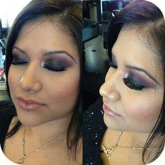 Purple smokey eye. Tarte MACCosmetics Inglot