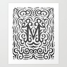 Beautiful Bitmaps: M by Erik Marinovich. #typography