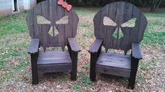 Cool Outdoor Skull Chair, Skull Throne, Outdoor Furniture, Biker