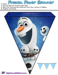 Olaf and Snowgies banner | Frozen Fever Free Printables and Crafts | SKGaleana