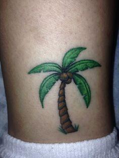 tattoo palm tree | Palm tree tattoo add sand, flip flops, etc