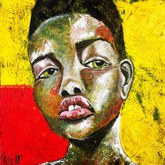 Jenna 40/40 acrylic painting by Szandra Reinecker