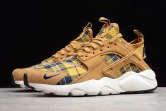 2019 Nike Air Huarache Run Ultra Brown/Soil Yellow-White Nike Air Huarache, Huaraches, Casual Shoes, Air Jordans, Sneakers Nike, Running, Yellow, Brown, Shopping