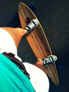 Converse and longboard.