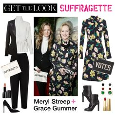 Get the Look: Suffragette Movie Premiere by polyvore-editorial on Polyvore featuring moda, Marni, J.W. Anderson, Alexandre Vauthier, Oasis, Vic Matié, Gianvito Rossi, Dolce&Gabbana, Illamasqua and suffragette