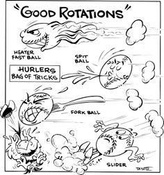 Syndicated Cartoon Baseball.