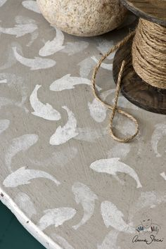 Fish is part of Stenciled floor - Annie's lovely, coastal inspired design works beautifully as a standalone design or in a repeat pattern Coastal style is all Fish Stencil, Stencils, Painted Concrete Floors, Painting Concrete, Annie Sloan, Coastal Style, Coastal Decor, Stenciled Floor, Floor Stencil