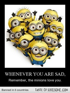 We have been collecting some of the most funniest and best minions quotes and funny pics, same is here . Some of the most hilarious minions pictures with captions ALSO READ: Banana Minions ALSO READ: 30 Best Funny Animal Memes of all times Amor Minions, Minions Love, My Minion, Minions Quotes, Minions Minions, Minion Sayings, Happy Minions, Minion Doll, Minions 2014