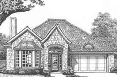 Find your dream european style house plan such as Plan which is a 1442 sq ft, 3 bed, 2 bath home with 2 garage stalls from Monster House Plans. House Plans 3 Bedroom, Bungalow House Plans, Craftsman Style House Plans, Ranch House Plans, Cottage House Plans, Country House Plans, House Floor Plans, European House Plans, Modern House Plans