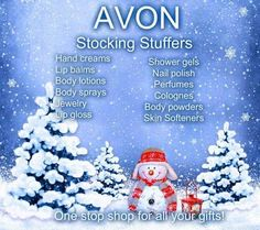 Time to start thinking about Christmas!  #stockingsuffers #ideas #Avonrep  Www.youravon.com/cfreni