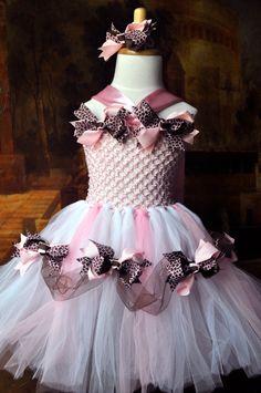 leopard light pink handmade tutu dress | Pettiskirts & tutus