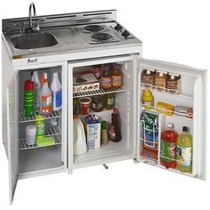 These small all-in-one kitchen units work great and are essential for tiny house lovers.