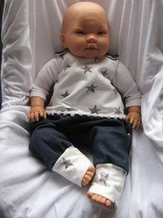 NovemberBlues  Baby Newborn Strampler Gr. 62 - 68 von me Kinderkleidung und ersatzbezuege auf DaWanda.com