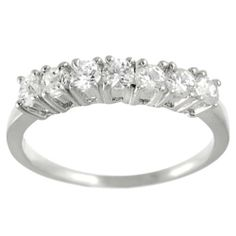 Alexandria Collection Sterling Seven-Round Bridal Engagement CZ Ring Alexandria Collection. $6.99. 2.0 gram metal weight. High polish finish. Cubic zirconia gemstones. Sterling silver