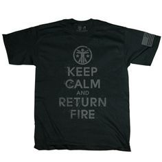 SSD x TD Keep Calm And Return Fire 2.0 - Graphic Tee's - Apparel - Tactical Distributors- Tactical Gear