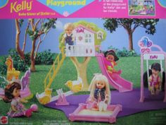 Barbie Kelly Playground Playset w TREE HOUSE, Slide, Ladder & MORE! (1997) by Arcotoys, Mattel. $249.99