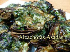 Recetas Caseras Fáciles MG: Alcachofas asadas Vegan Recipes, Pork, Appetizers, Vegetables, Cooking, Gluten, Wings, Homemade Recipe, Tasty Food Recipes