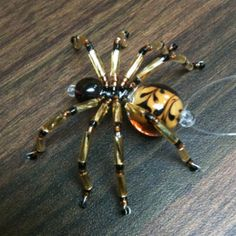 Beaded bugs | Beaded Christmas Spider