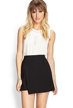 I will find this skirt till the end of the earth!! ..Woven Wrap Skirt | FOREVER21 - 2000062236