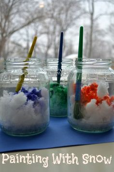 Painting with snow activity... how do you use snow creatively?