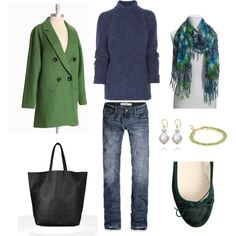 """""""Green and Blue"""" by bluehydrangea on Polyvore"""