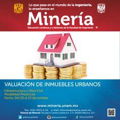 Curso presencial Valuación de Inmuebles Urbanos del 27 al 31 de octubre de 2014  http://www.mineria.unam.mx/cursovaluaciondeinmueblesurbanos.php