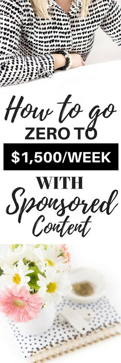 How I Earn $1,500 Per Week with Sponsored Content