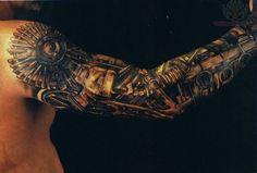 Awesome mechanical sleeve tattoo!