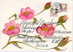 Calligraphy envelope art