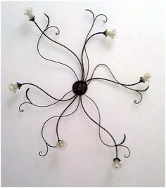 Lamps Antiques Lampadario In Ferro Pieno Forgiato E Battuto A Mano Con 4 Luci Cheap Sales