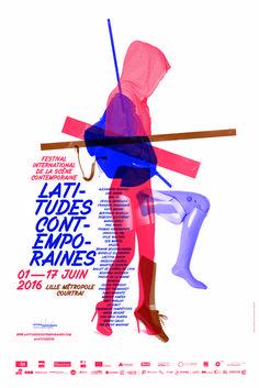"""poster/affiche (2016) """"Latitudes Contemporaines"""" by Les produits de l'épicerie (France, Lille)"""