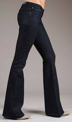 Flare jeans for tall women, by TallWater Jeans.