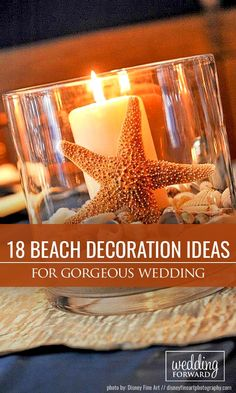18 Gorgeous Beach Wedding Decoration Ideas ❤ We propose beach wedding decoration ideas for guests book, centerpieces, beach signs, aisles and arches.  See more: http://www.weddingforward.com/beach-wedding-decoration-ideas/ #wedding #beach #decor