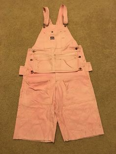 193963b99faa Vintage OG 90 s Pink Ben Davis Duck Canvas Overalls Shorts 34 - 36 Workwear  RARE