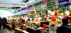 hongdae road shop n gwangjang market course door