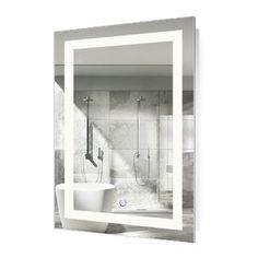 Wade Logan® Kirkby Coastal Lighted Vanity Mirror & Reviews | Wayfair Backlit Mirror, Lighted Vanity Mirror, Mirror With Lights, Dresser Mirror, Led Mirror, Modern Bathroom Mirrors, Rustic Bathroom Vanities, Bathroom Ideas, Royal Bathroom