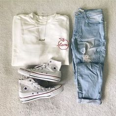 Winter Outfits, Summer Outfits, Casual Outfits, Cute Outfits, Fashion Outfits, Womens Fashion, Fashion Trends, Outfits With Converse, My Style