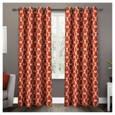 Gates Sateen Woven Room Darkening Grommet Top Window Curtain Panel Pair