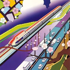 Old advertising poster from Japan by Hiroshe Konno.